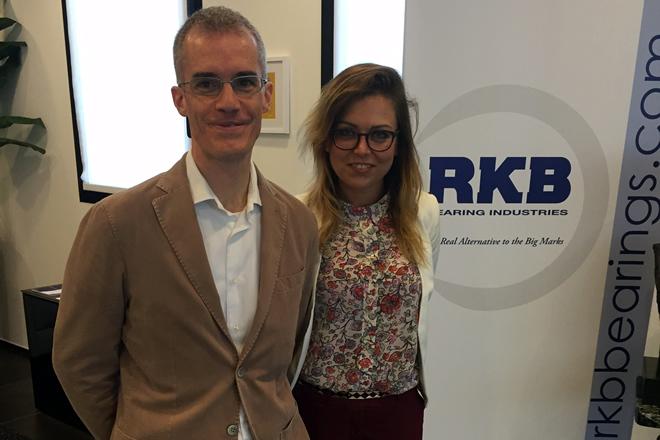 Na zdjęciu od lewej: Alberto Bai RKB Europe, Angelika Rudzka PM biuro handlowe RKB Polska